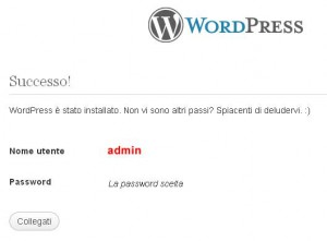 Wordpress installazione 3
